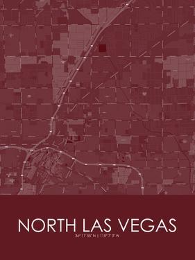 North Las Vegas, United States of America Red Map