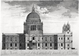 North View of St Paul's Cathedral, City of London, C1713