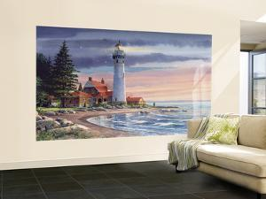 Northern Lighthouse Huge Mural Art Print Poster