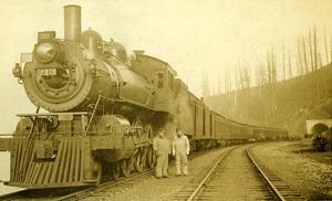 Northern Pacific Locomotive, Point Defiance, Tacoma, WA, ca. 1914