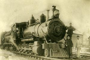Northern Pacific Railway Locomotive No. 2, Ellensburg, Wa, 1904
