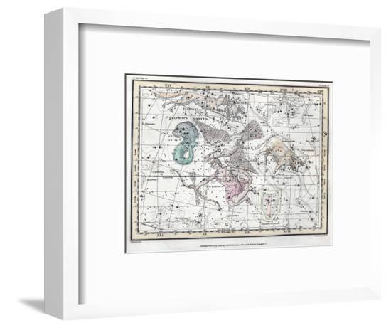 Northern Sky Constellations, 1822-Science Source-Framed Giclee Print