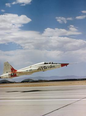 Northrop T-38 Talon Supersonic Jet Trainer Taking Off
