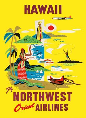 Northwest Orient Airlines, Hawaii c.1960s