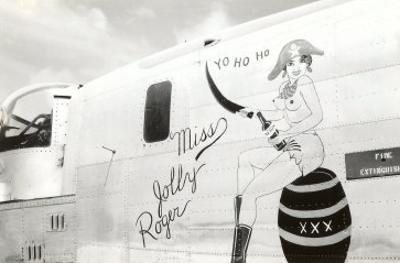 Nose Art, Miss Jolly Roger, Pin-Up