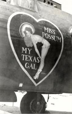 Nose Art, Miss Possum, Pin-Up