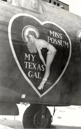 Nose Art, Miss Possum, Pin-Up