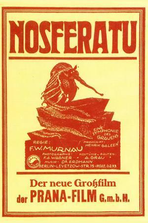 Nosferatu Movie Max Schreck 1922 Plastic Sign