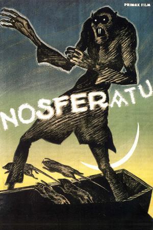 Nosferatu Movie Max Schreck Gustav von Wangenheim 1922 Plastic Sign