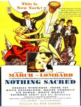 Nothing Sacred, Carole Lombard, Fredric March, 1937