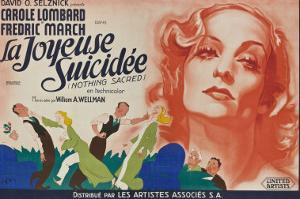 Nothing Sacred, French Movie Poster, 1937