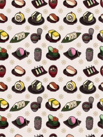 Seamless Japanese Food Pattern by notkoo