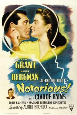 Notorious, 1946, Directed by Alfred Hitchcock