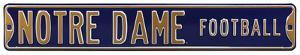 Notre Dame Football Steel Sign