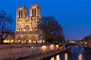Notre Dame River Seine at Dusk
