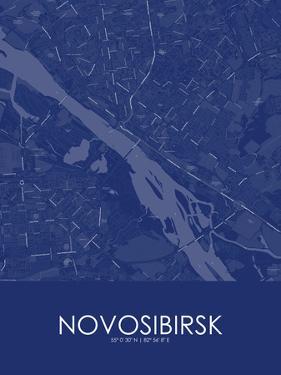 Novosibirsk, Russian Federation Blue Map