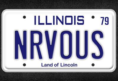 NRVOUS License Plate Movie Poster