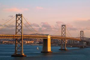 Bay Bridge at Sunset by nstanev