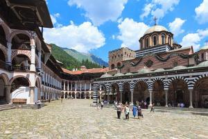 Rila Monastery Courtyard in Bulgaria by nstanev