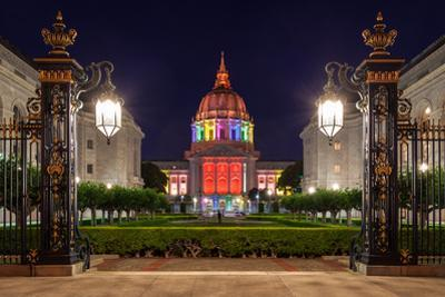 San Francisco City Hall in Rainbow Colors by nstanev