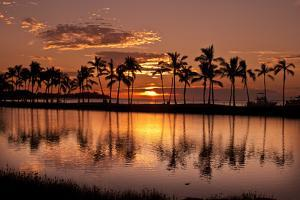 Waikoloa Sunset at Anaeho'omalu Bay by NT Photography