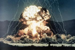 Nuclear Explosion Met in Nevada Desert