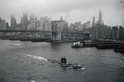 Nuclear Submarine Passing New York View
