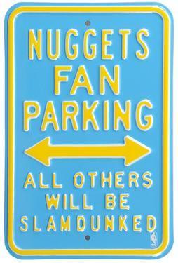 Nuggets Slam Dunked Parking Steel Sign