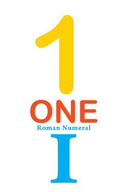 Number 1 Sign With Roman Numeral Banner Poster