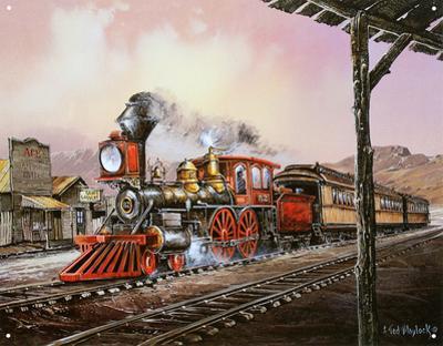 Number 82 Train Rolling Thru Town