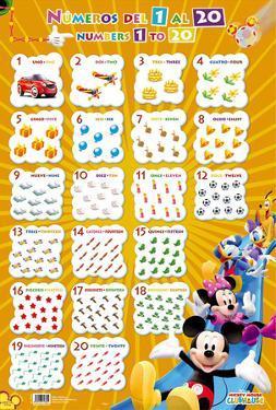 Numeros Del 1 Al 20-Mickey