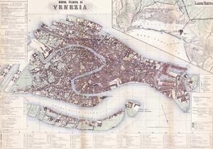 Nuova Pianta Di Venezia- Vintage Map Of Venice