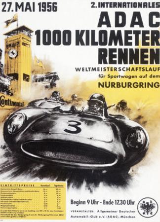 Nurburgring 1000 Auto Race, c.1956
