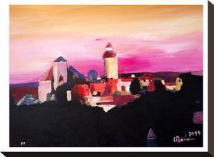 Nuremberg With Castle At Dusk by M Bleichner