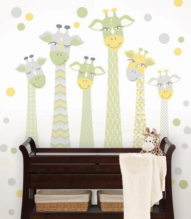 Nursery Giraffe Wall Art Kit