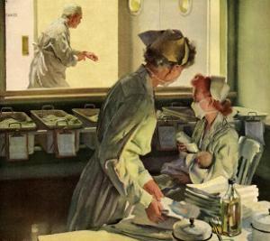 Nurses in Hospital, 1944