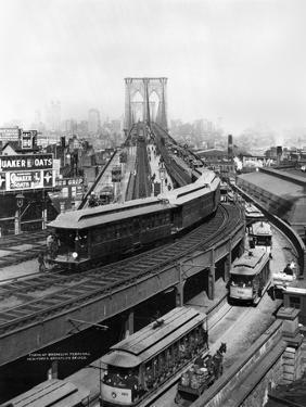 NY: Brooklyn Bridge, 1898