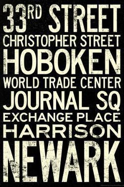 NY/NJ Path Train Stations Vintage Retro Metro Travel Poster