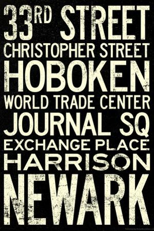 NY/NJ PATH Train Stations Vintage RetroMetro Travel Plastic Sign