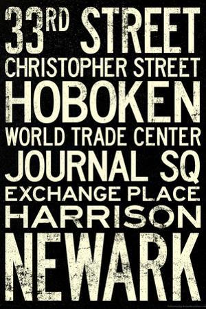 NY/NJ PATH Train Stations Vintage RetroMetro Travel Poster