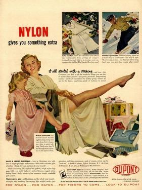 Nylon by DuPont, Nylons Stockings Hosiery, USA, 1940