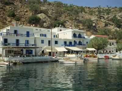 Hotel and Harbour, Loutro, Sfakia, Crete, Greek Islands, Greece, Europe