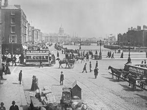 O'Connell Bridge and Quays, Dublin, Ireland, C.1885