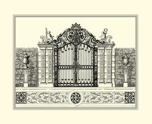 Crackled B&W Grand Garden Gate II by O. Kleiner