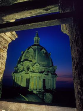 Dome of San Pedro Claver Rises Above Old Cartagena, Colombia by O. Louis Mazzatenta