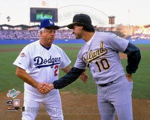 Oakland Athletics, Los Angeles Dodgers - Tony La Russa, Tommy LaSorda Photo