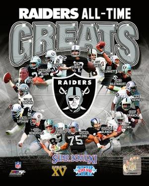 Oakland Raiders All Time Greats Composite