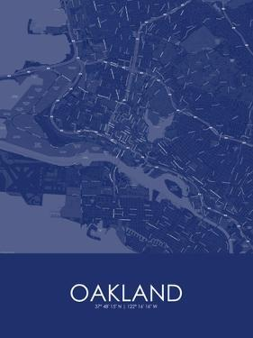 Oakland, United States of America Blue Map