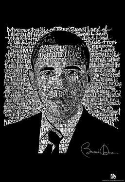 Obama My Country Tis of Thee Lyrics Poster