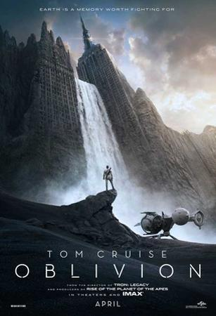 Oblivion (Tom Cruise, Morgan Freeman, Andera Riseborough) Movie Poster